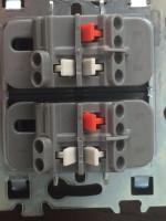 Podłączenie dwóch podwójnych włączników schodowych do trzech źródeł światła