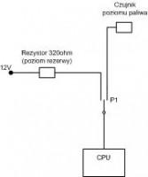 Renault Scenic II - Jak zrobić emulator poziomu paliwa?