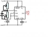 NE555 i prąd sinusoidalnie zmienny
