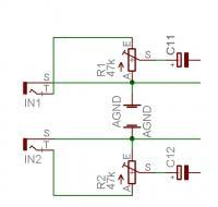 Wzmacniacz na KA2206. potencjometr, regulacja. Głośnik trzeszczy.