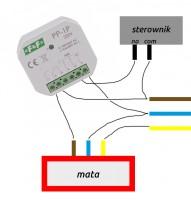 Podłączenie maty grzewczej do sterownika temperatury z przekażnikiem